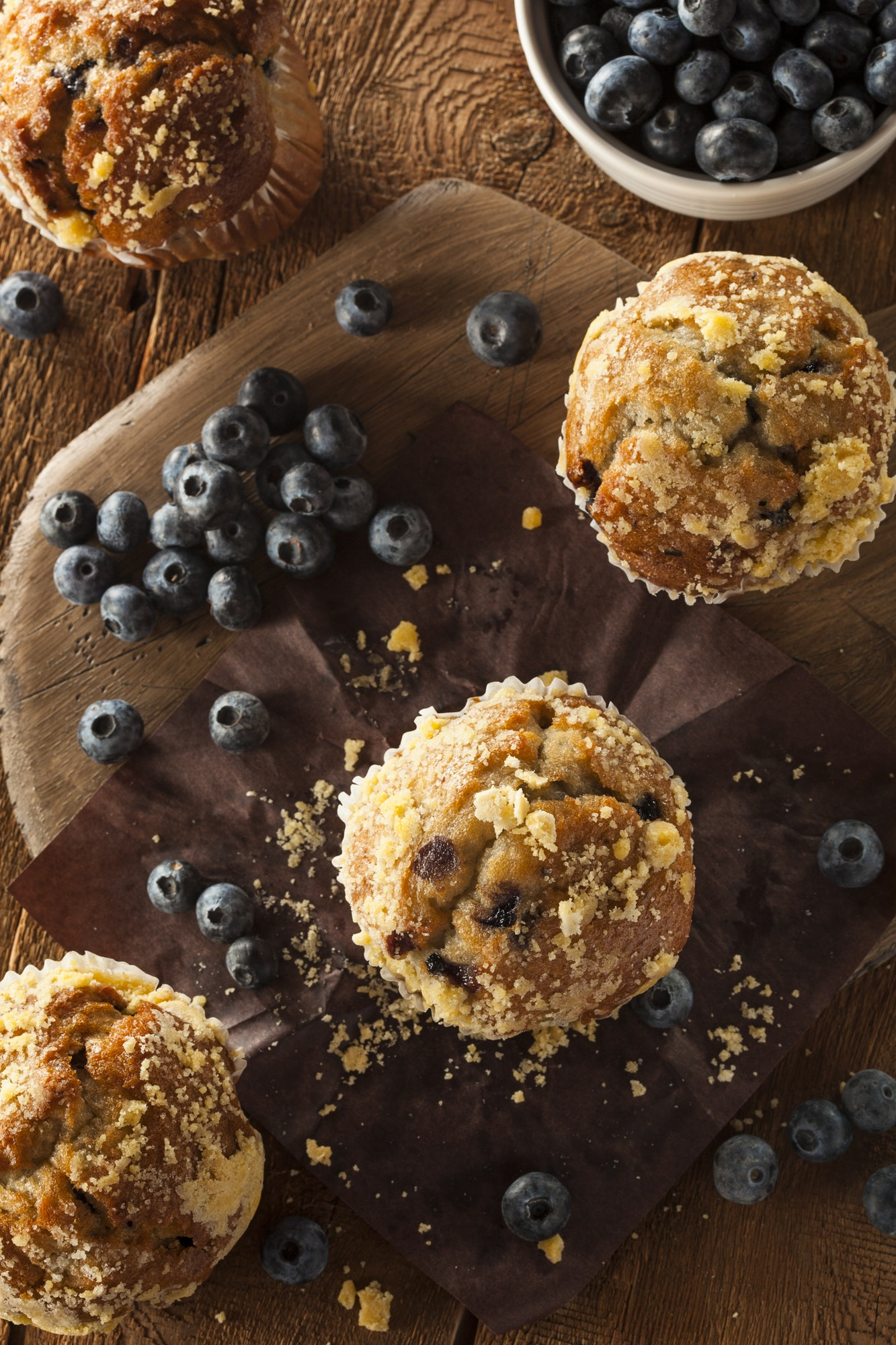 Homemade Blueberry Muffins for Breakfast